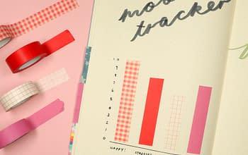 Come decorare il diario con washi tape
