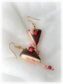 Orecchini strawberry cake di Monia Gammaroni   Paste Modellabili
