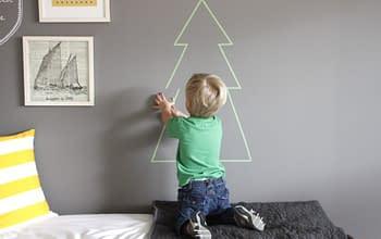 Come creare un albero di Natale con il washi tape