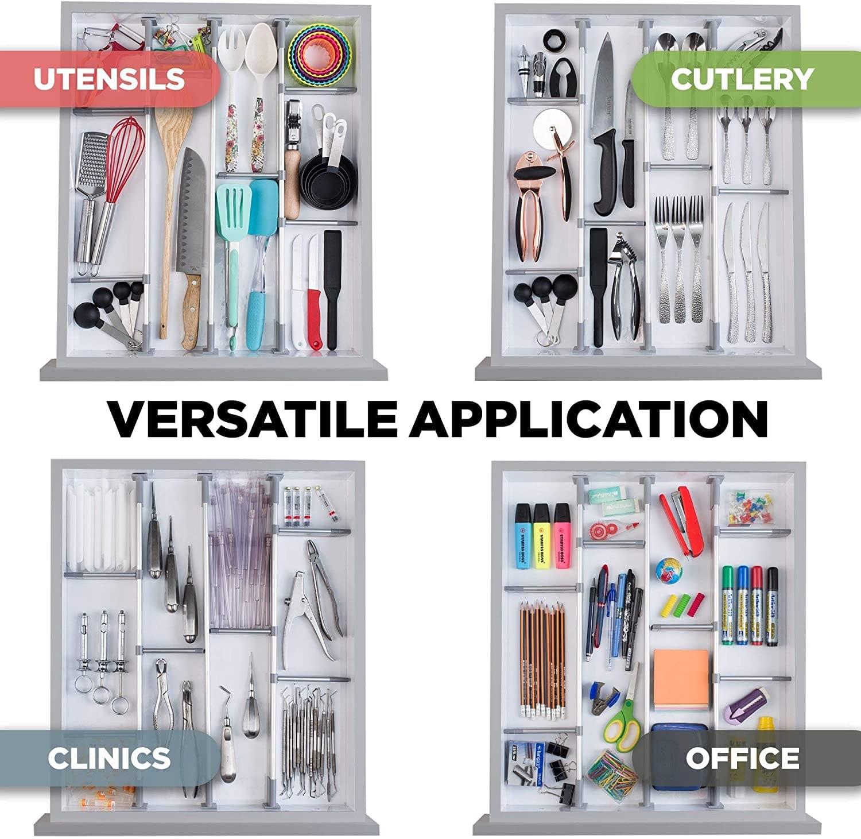 Organizer per cassetti versatile