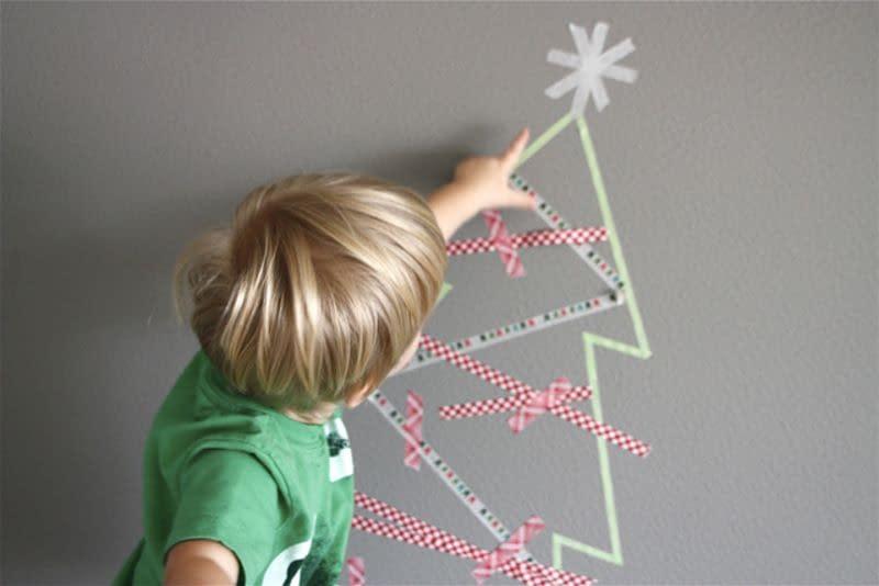 albero di Natale con nastro washi
