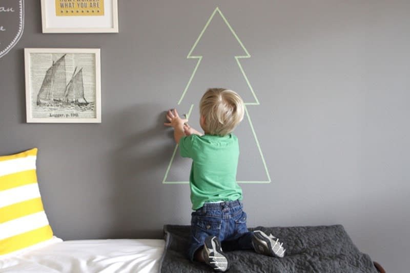 albero di Natale con washi tape