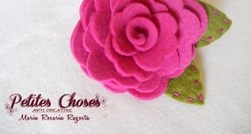 Rosa il Feltro su Spilla di Petites Choses   Cucito Creativo