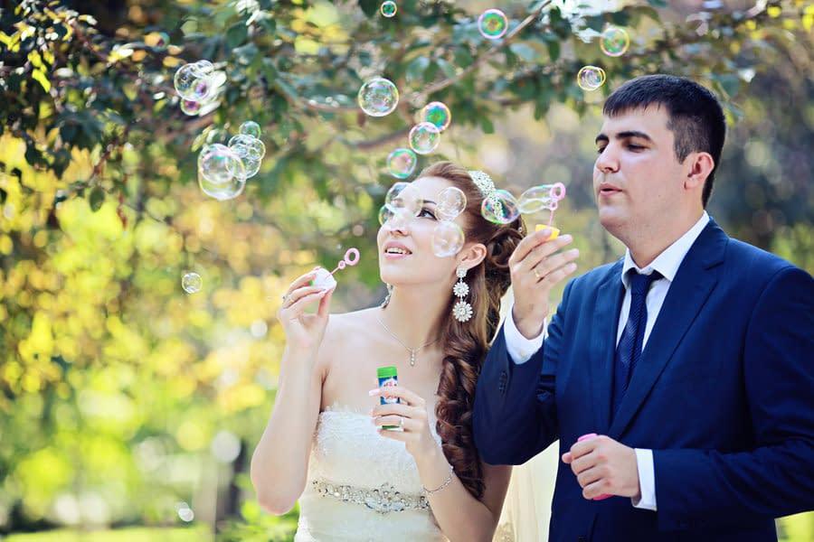 Bolle di sapone per il tuo matrimonio